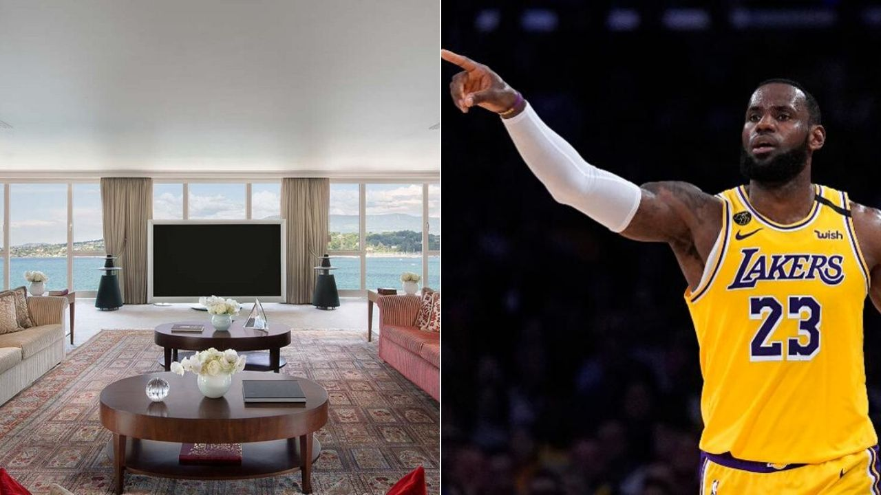 LeBron James Hotel Room