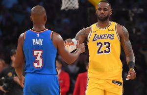 Chris Paul and LeBron James