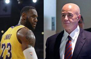 LeBron James Lakers and Bernard Kerik