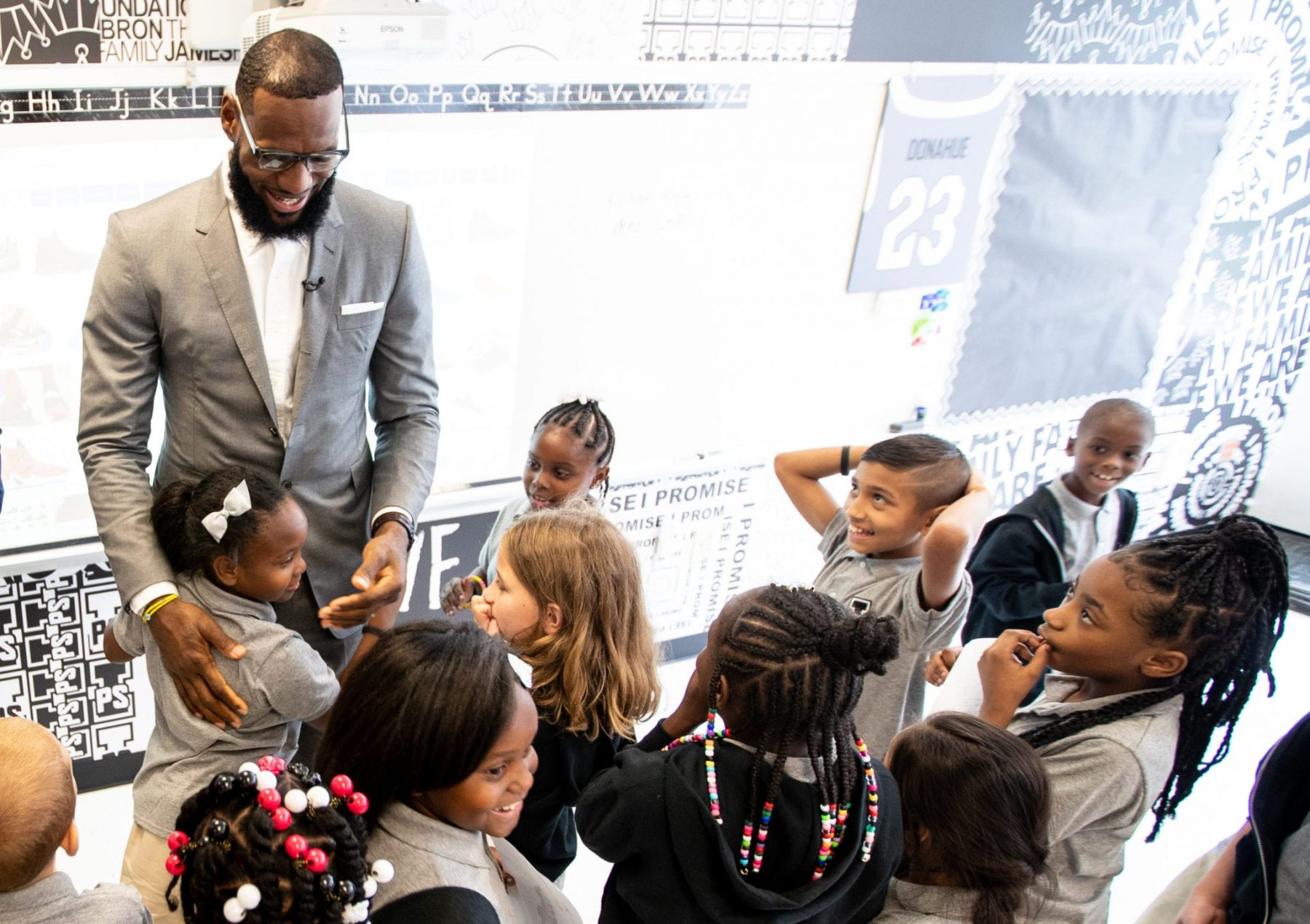 LeBron James and I Promise School Students