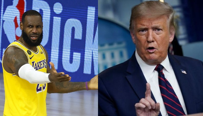 LeBron James Lakers and Donald Trump