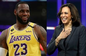 LeBron James and Kamala Harris