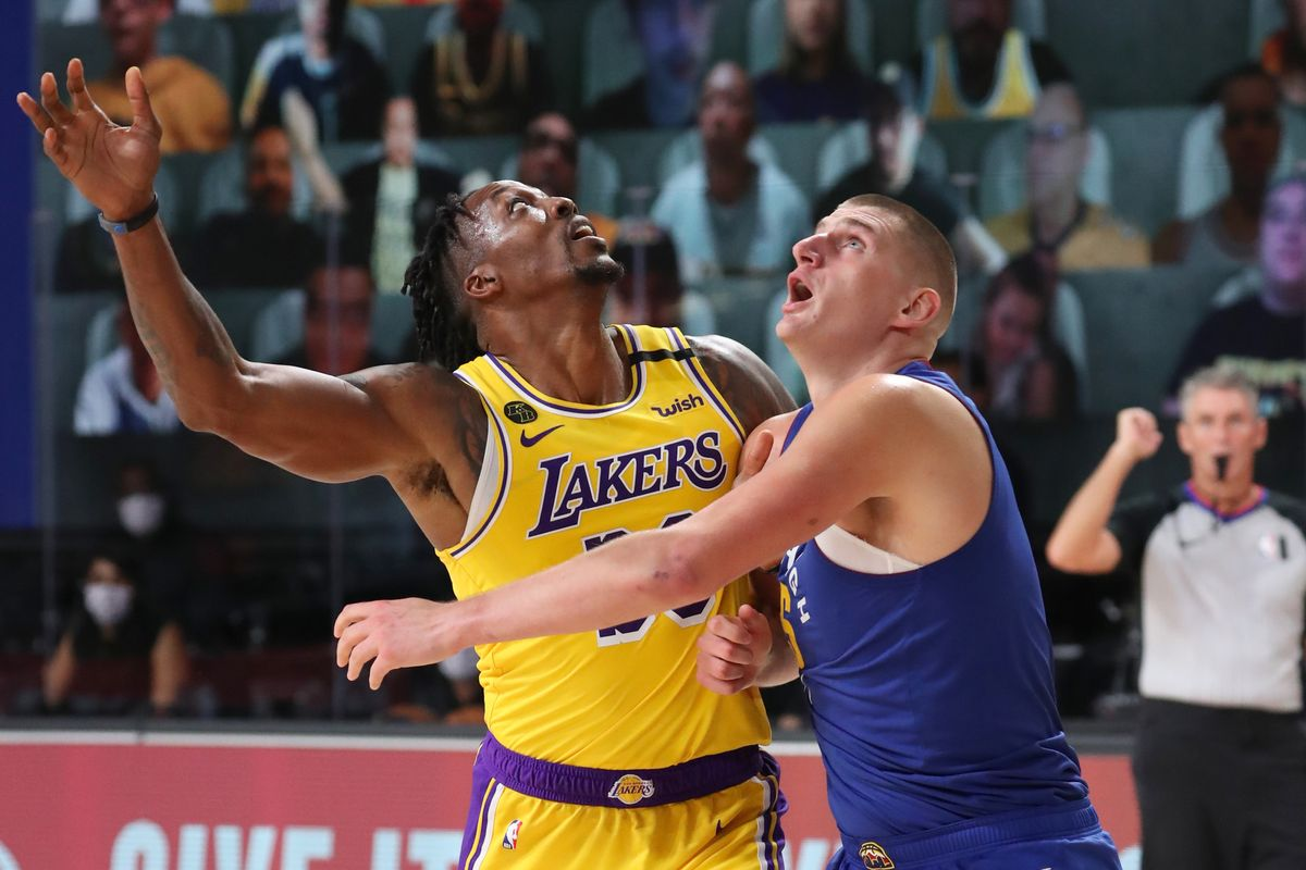 Dwight Howard and Nikola Jokic