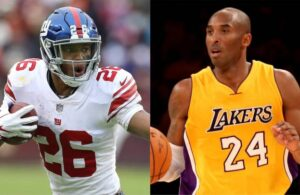 Saquon Barkley and Kobe Bryant