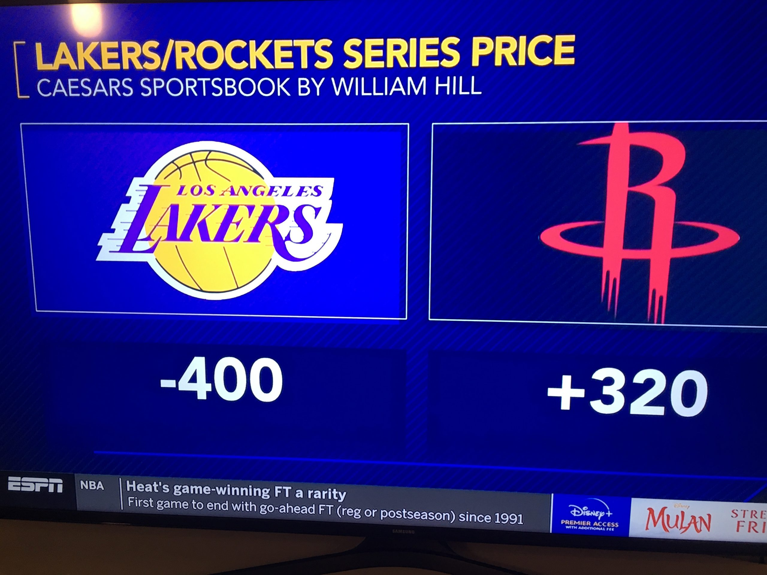Odds Released For Lakers Chances Of Beating Rockets In Round 2 Lakers Daily