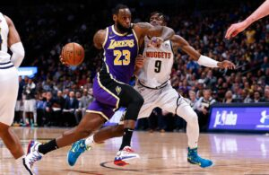 LeBron James and Jerami Grant Lakers