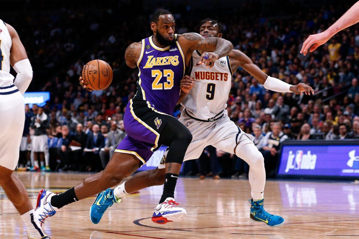 LeBron James and Jerami Grant Lakers