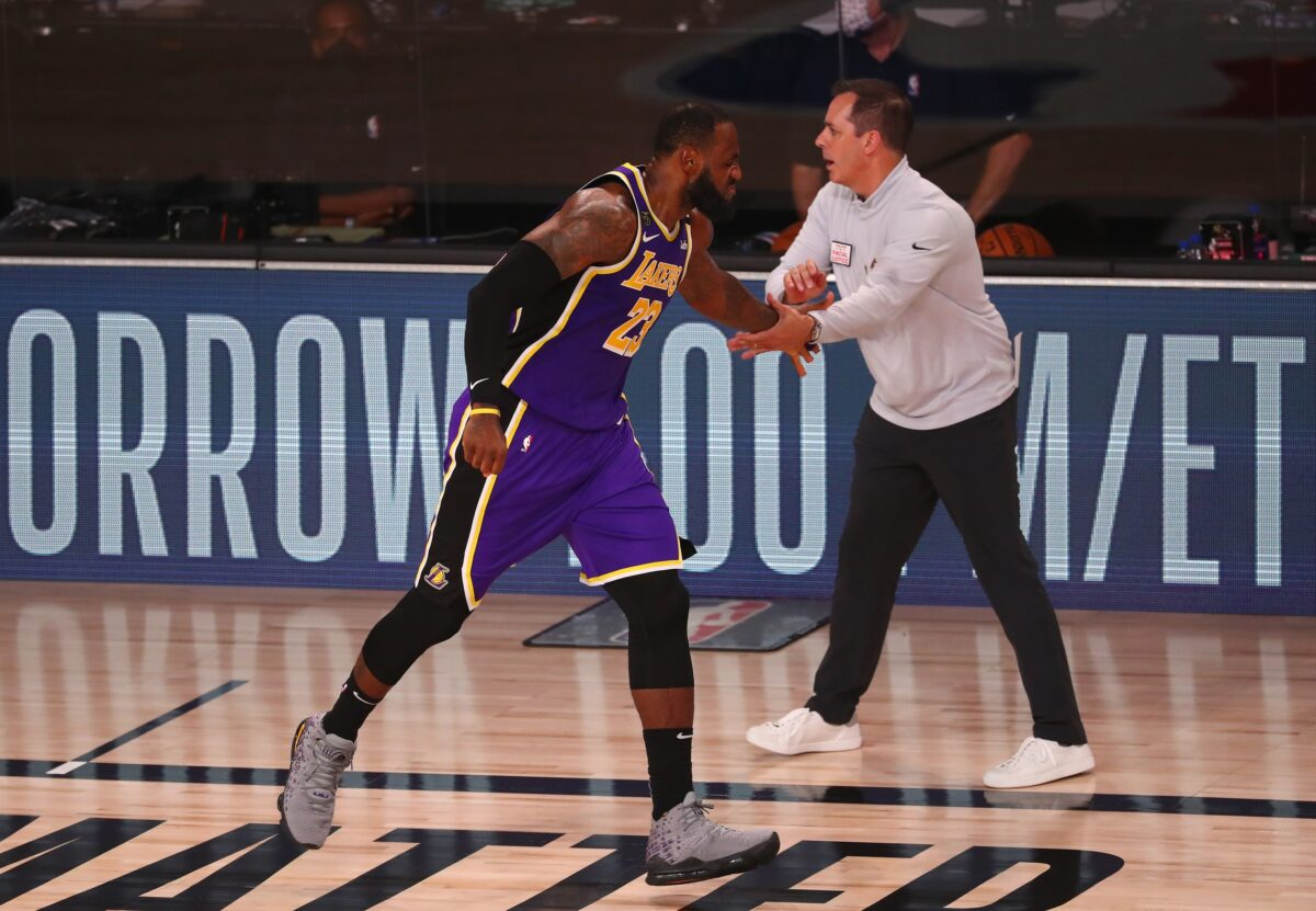 LeBron James and Frank Vogel
