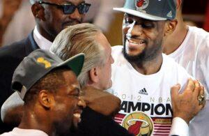 LeBron James and Pat Riley Miami Heat