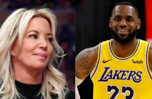 Jeanie Buss and LeBron James