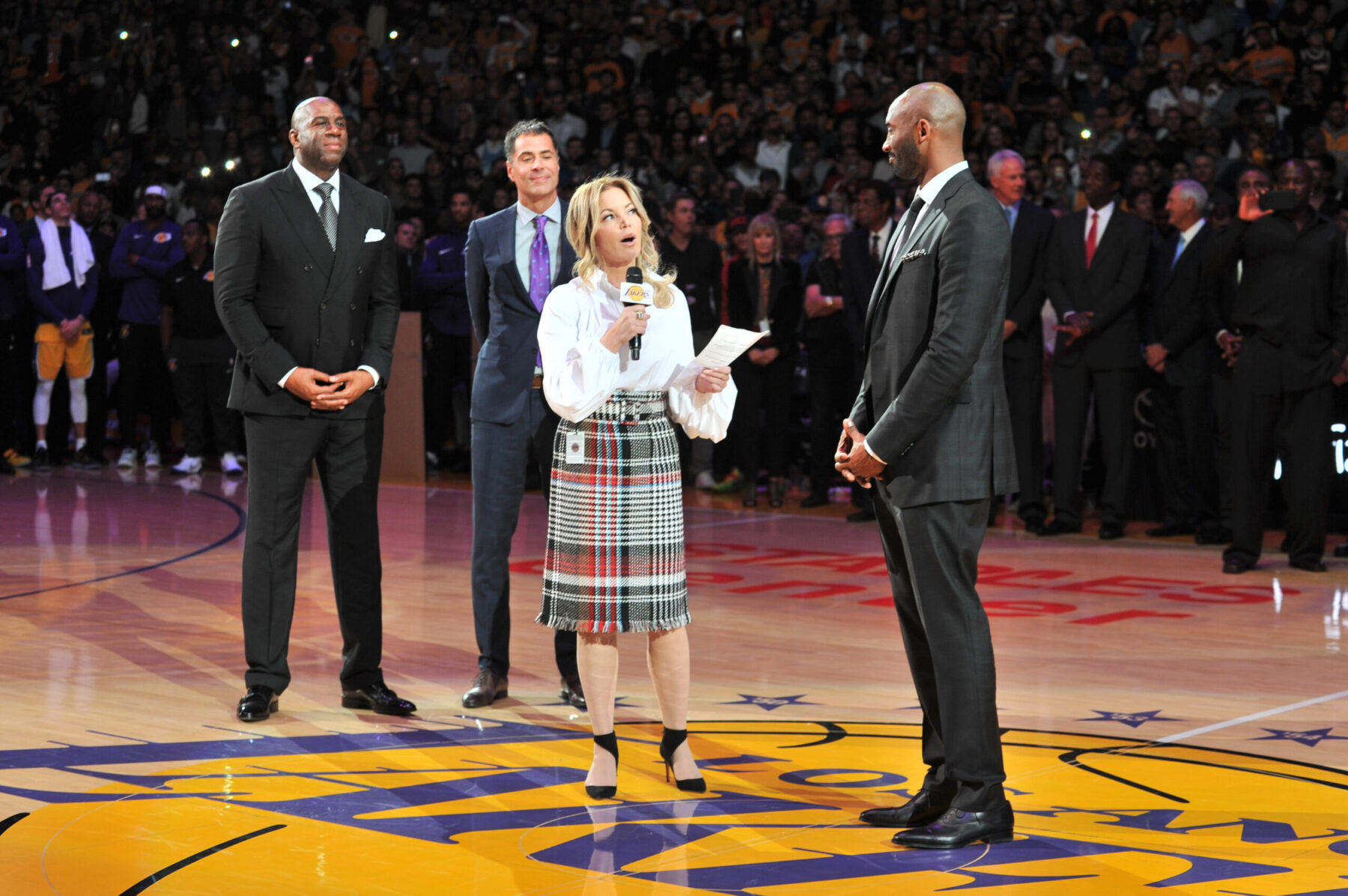 Jeanie Buss and Kobe Bryant