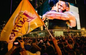 Lakers Fans Celebrate Title