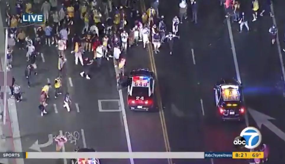 Lakers fans riots