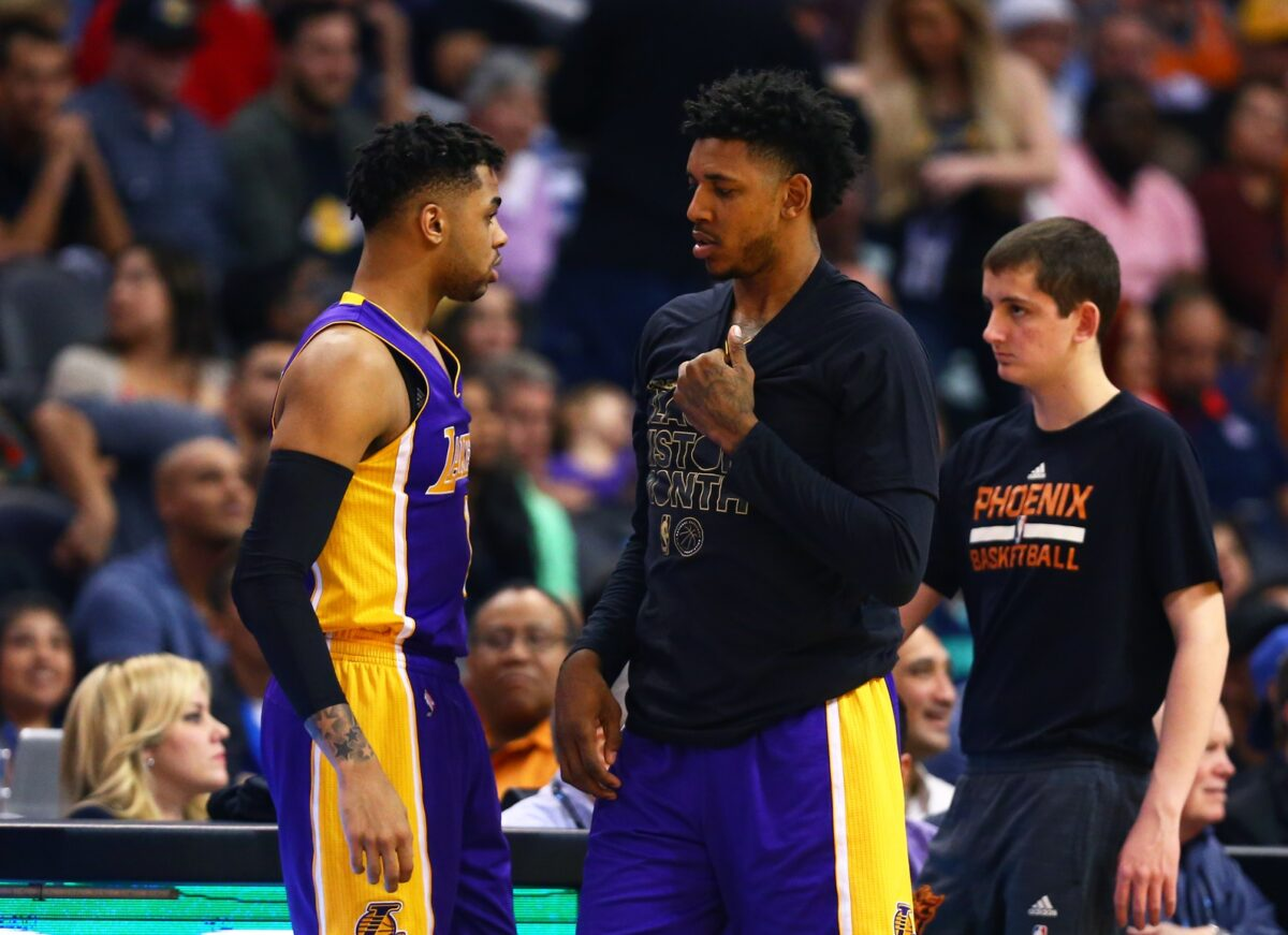 D'Angelo Russell and Nick Young