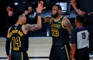 Danny Green and LeBron James
