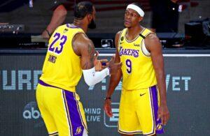 LeBron James and Rajon Rondo Lakers