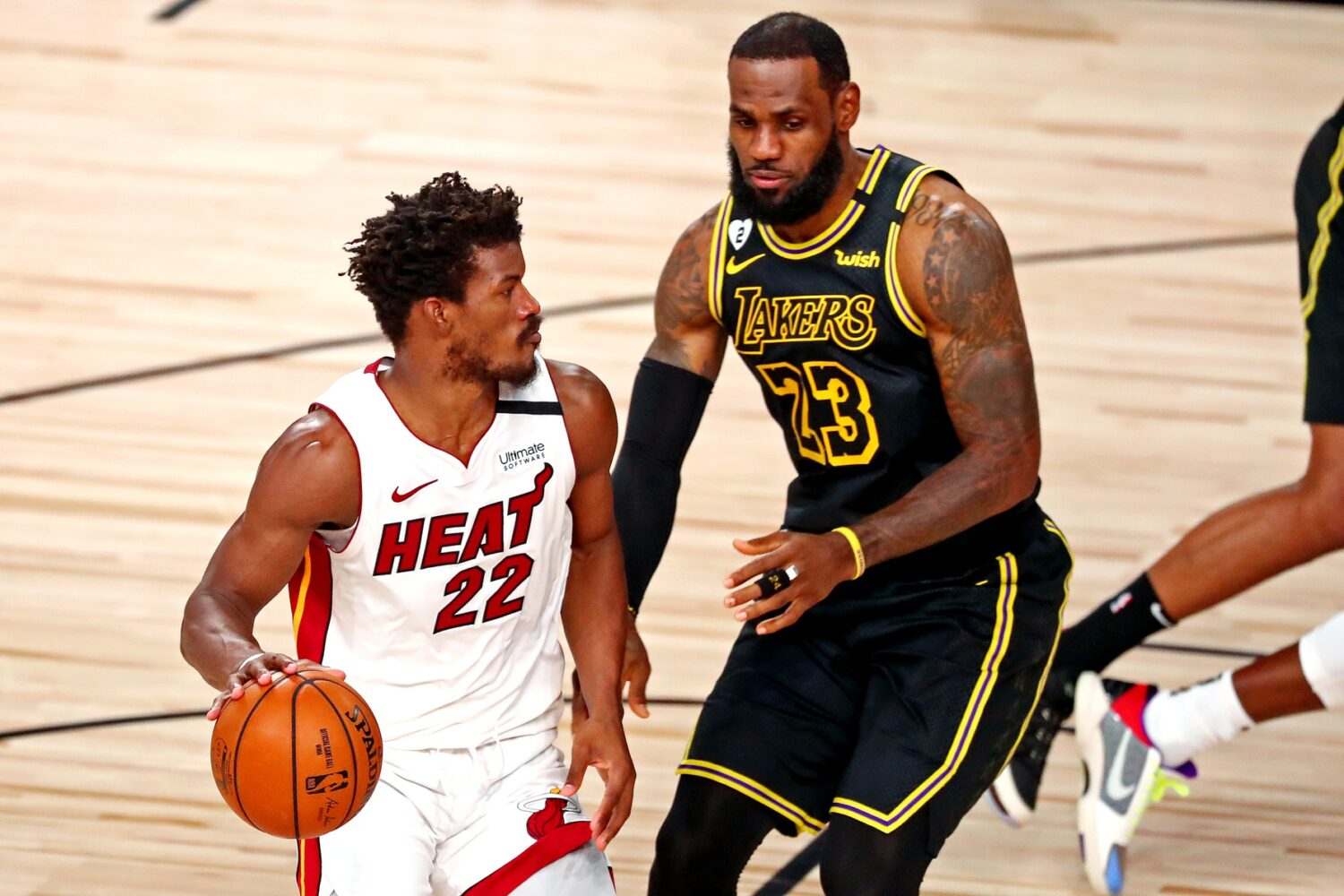 Jimmy Butler and LeBron James