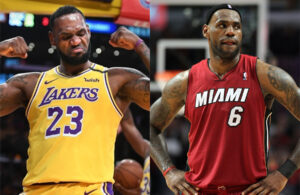 LeBron James Lakers and LeBron James Miami Heat