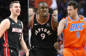 Goran Dragic, Serge Ibaka and Danilo Gallinari