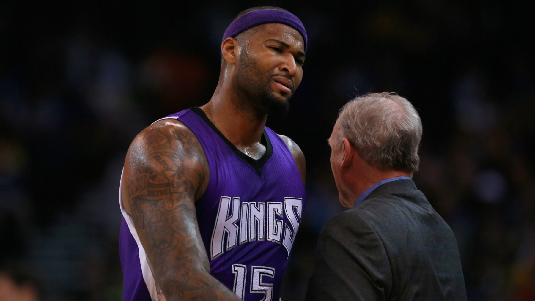 DeMarcus Cousins and George Karl