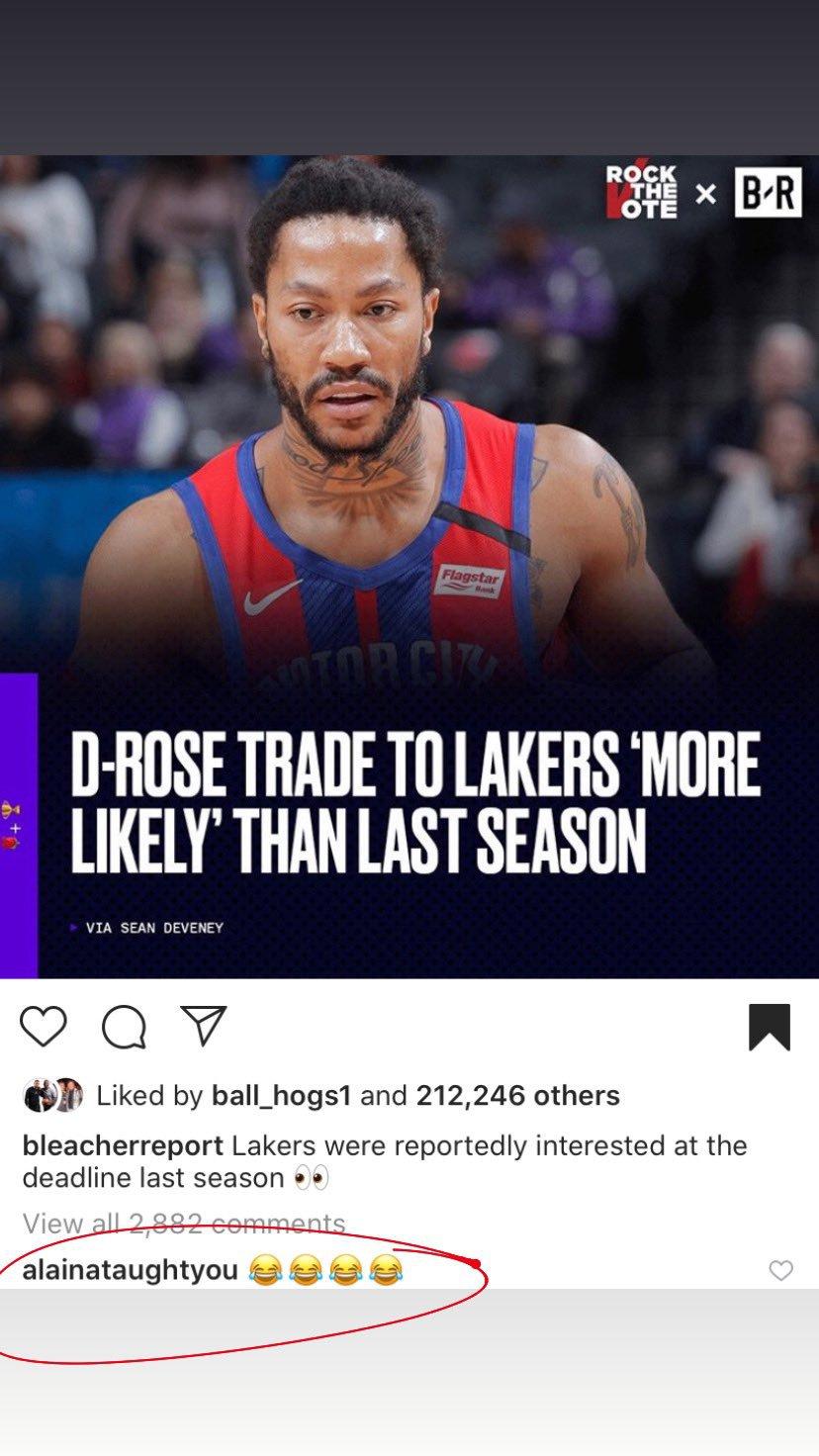 Derrick Rose Los Angeles Lakers