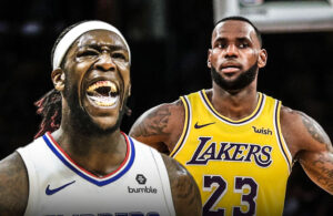 Montrezl Harrell and LeBron James