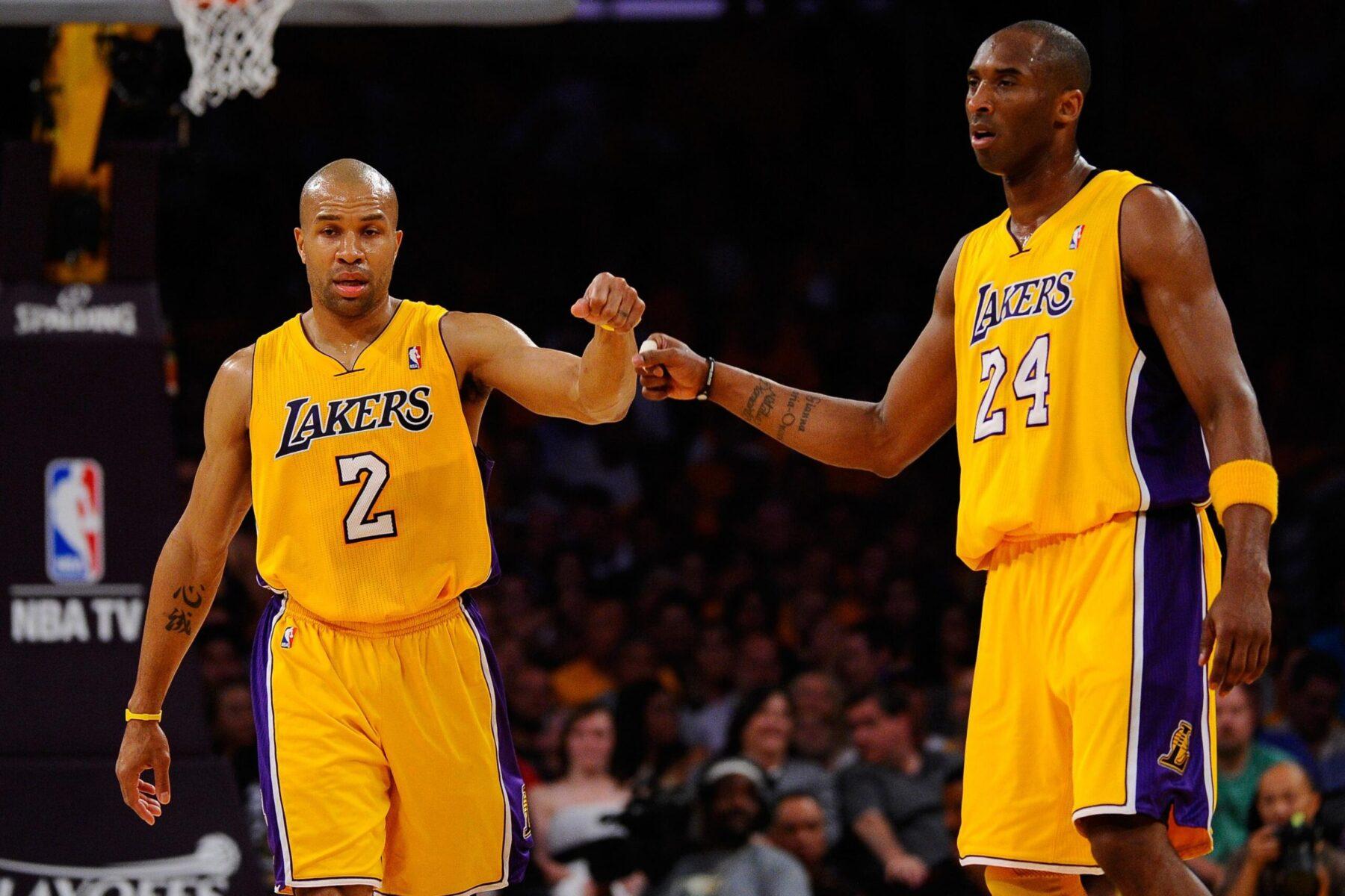 Derek Fisher and Kobe Bryant