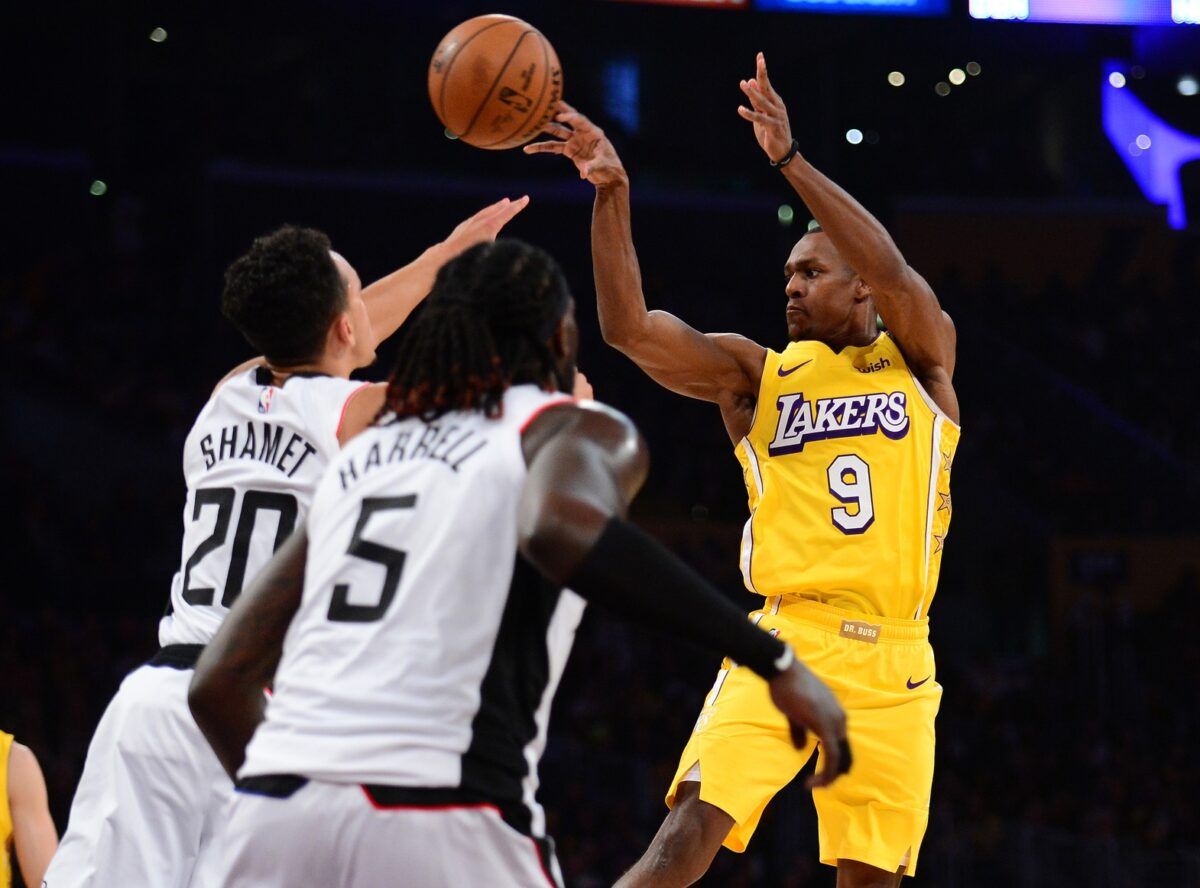 Report Lakers Guard Rajon Rondo remains Focused On Joining Clippers Lakers Daily