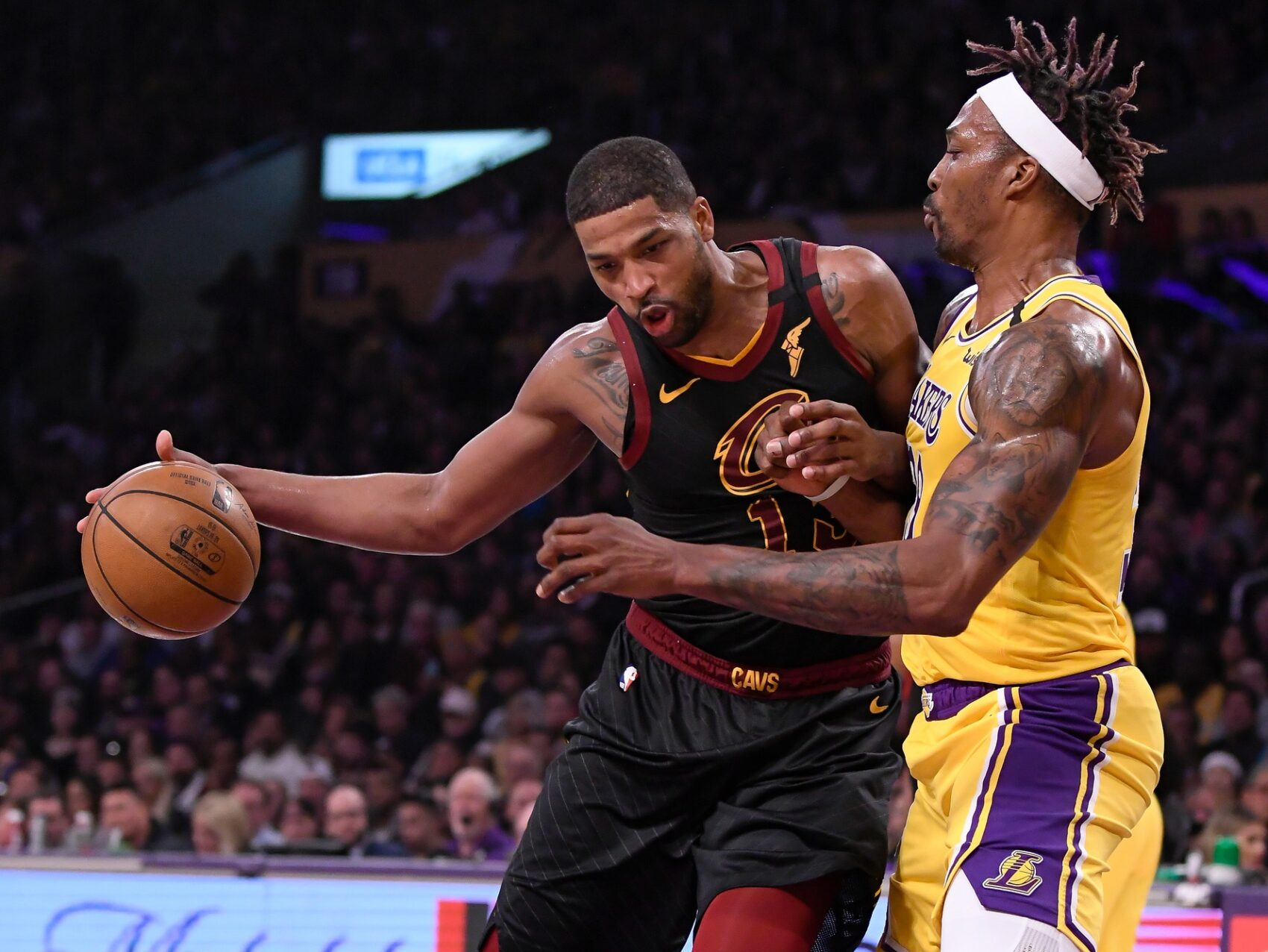 Tristan Thompson and Dwight Howard