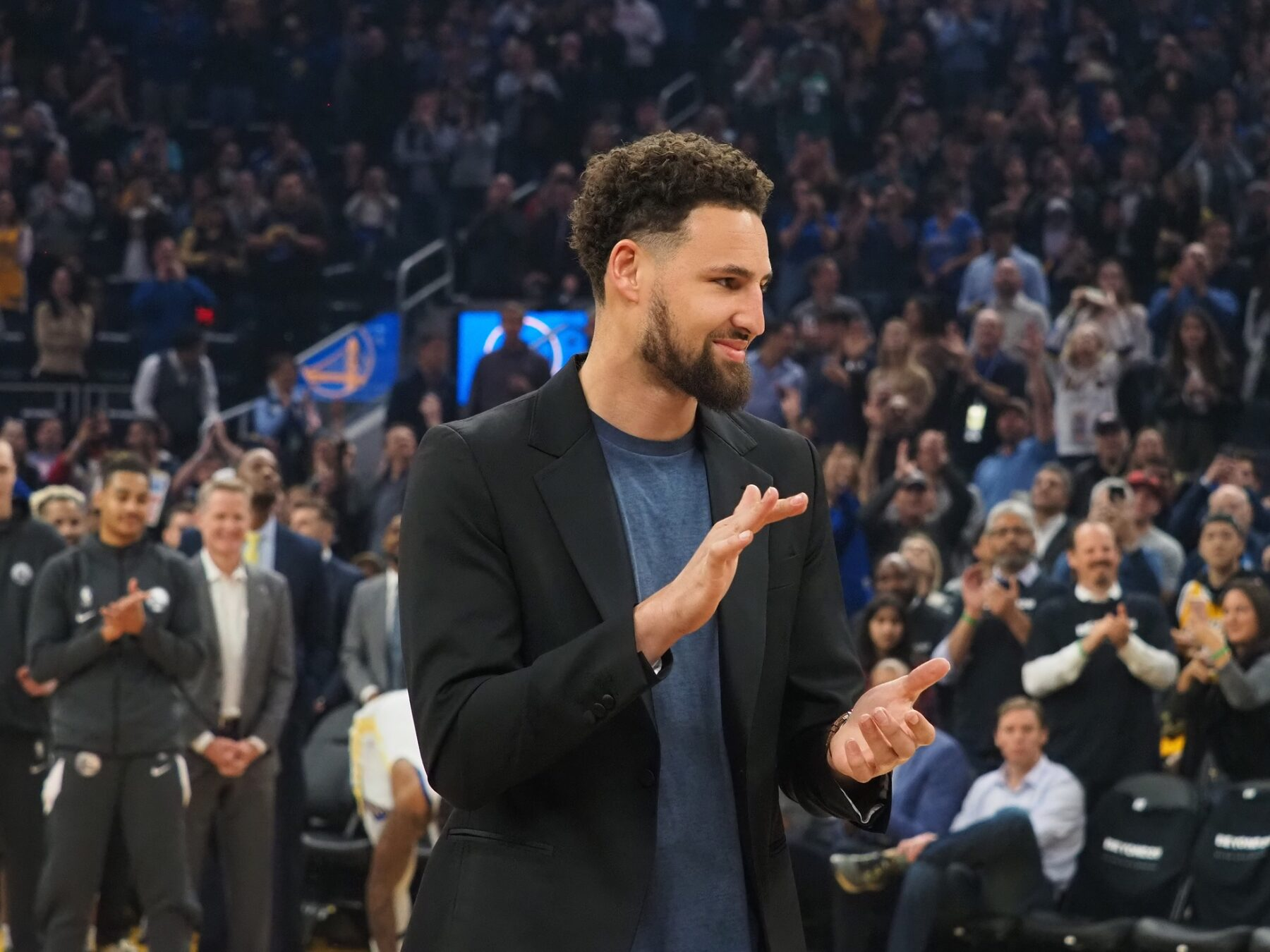 Warriors star Klay Thompson feared to have heel injury