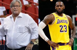 Micky Arison and LeBron James