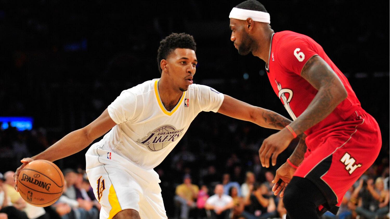 Nick Young and LeBron James