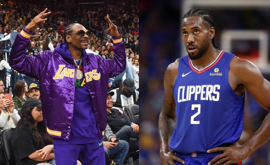 Snoop Dogg and Kawhi Leonard