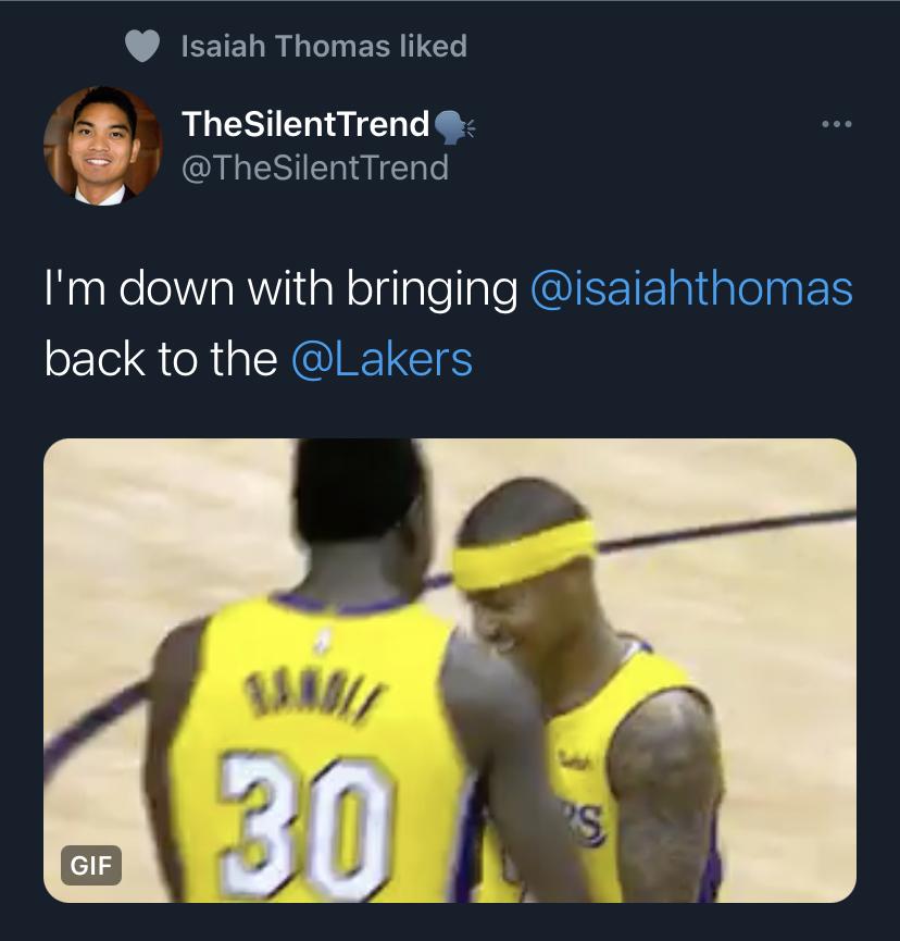 Isaiah Thomas Lakers