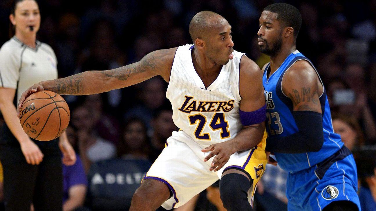 Kobe Bryant and Wesley Matthews