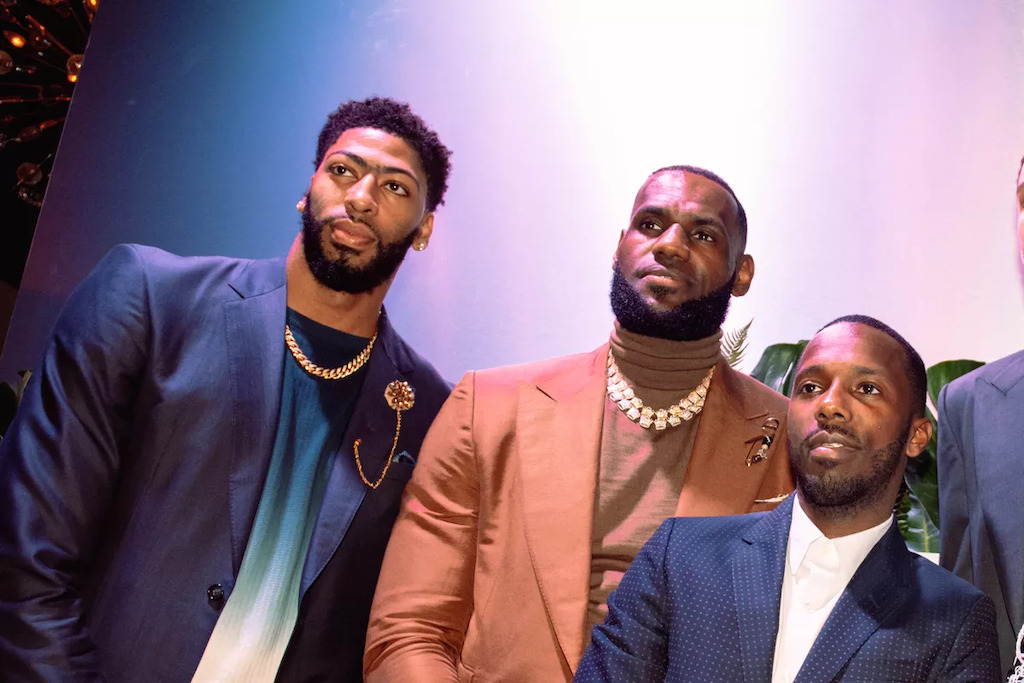 Anthony Davis, LeBron James and Rich Paul