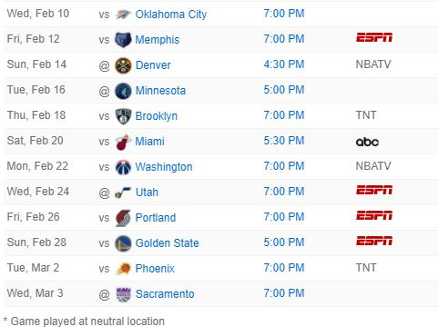 Lakers 2020-21 NBA schedule