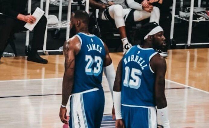 Montrezl Harrell and LeBron James