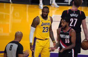 LeBron James Lakers Blazers