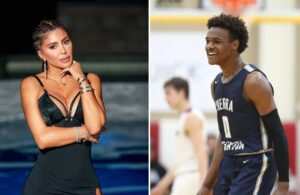 Larsa Pippen and Bronny James