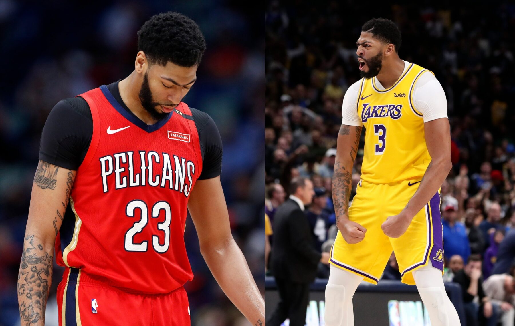 Pelicans Anthony Davis and Lakers Anthony Davis