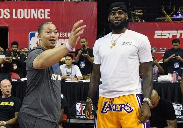 LeBron James and Tyronn Lue