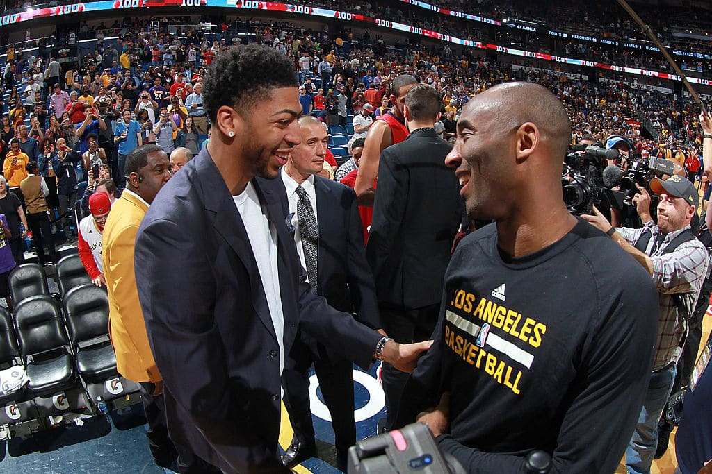 Anthony Davis and Kobe Bryant