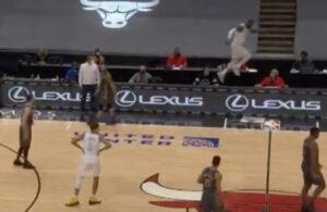 LeBron James tightroping
