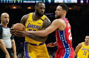 LeBron James and Ben SImmons