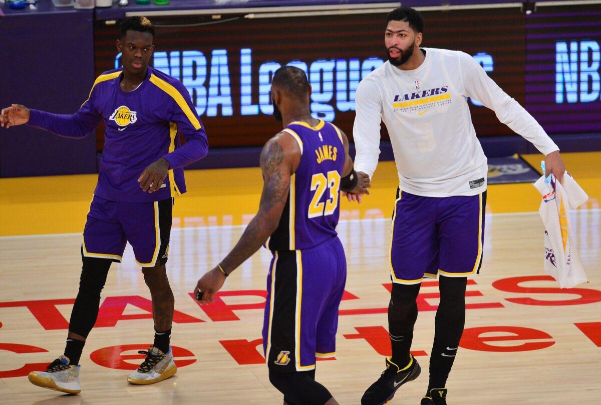 LeBron James, Dennis Schroder and Anthony Davis