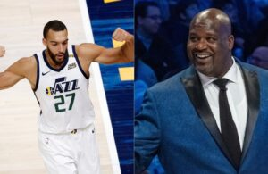 Shaquille O'Neal and Rudy Gobert