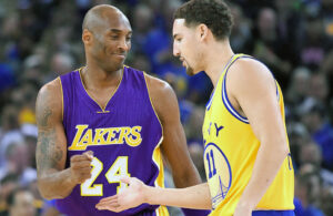 Klay Thompson and Kobe Bryant