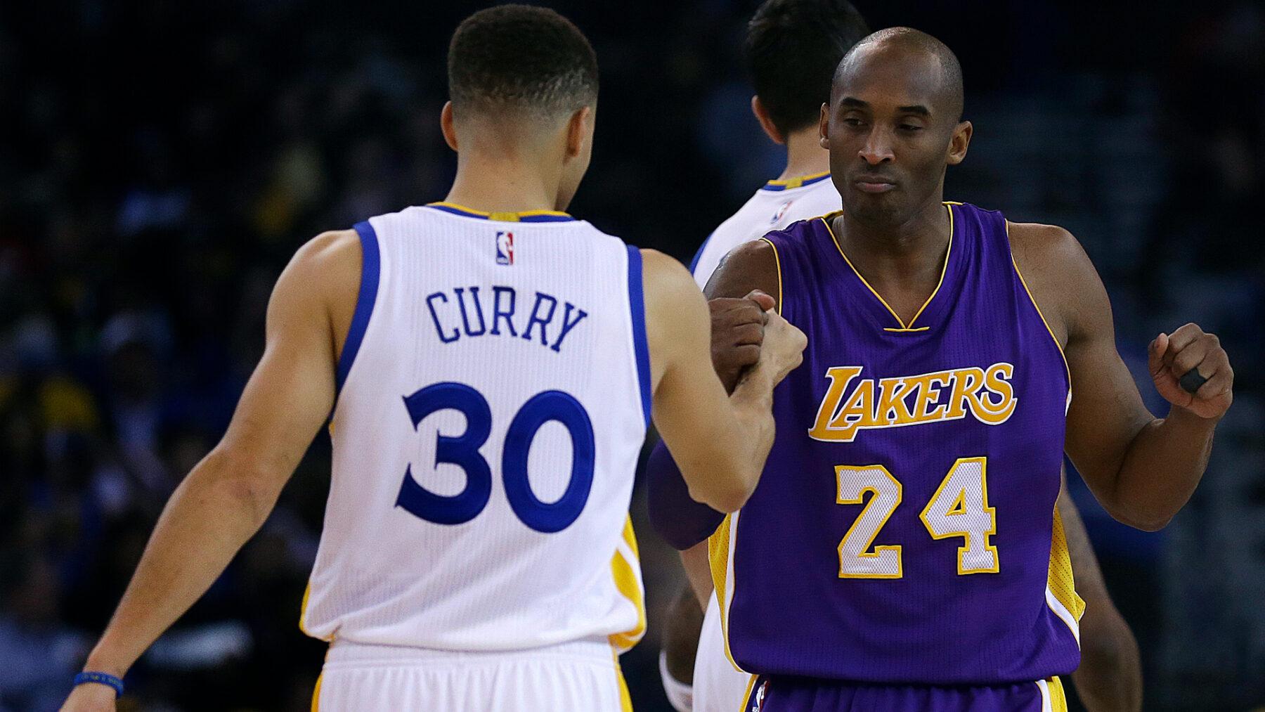 Stephen Curry and Kobe Bryant