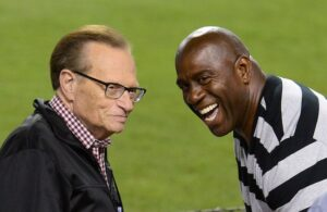 Larry King and Magic Johnson